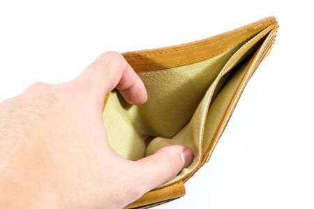 empty wallet: Empty wallet isolated.