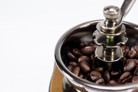 molinillo: aislado molinillo de caf�. Foto de archivo