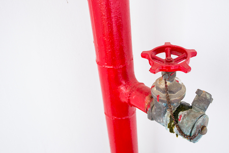 extinguishing: Old fire pipe system close up.