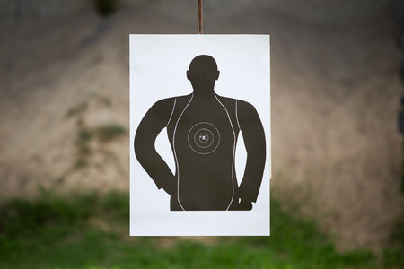 common goal: Basic human shooting target close up.