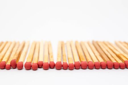 Matches stick on white background isolated close up. Stock Photo