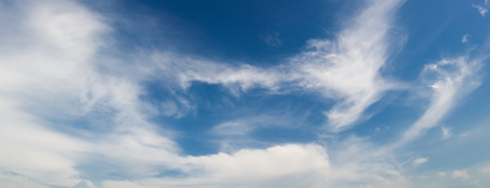 Beautiful a group of clouds in the blue sky during the sun shin background. Stock Photo