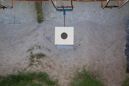 Standard circle shooting target close up. Stock Photo