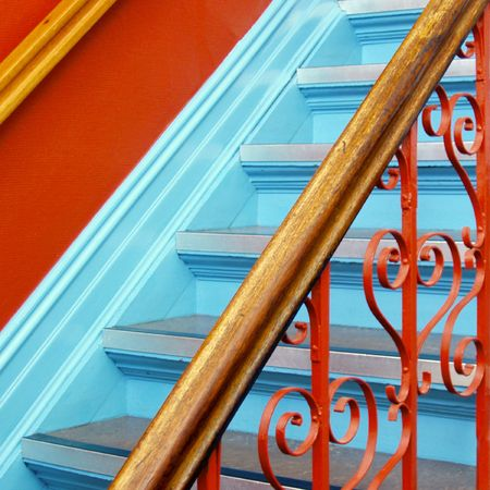 renovated: Staircase in a more than 100 years old building - renovated with or without respect ...