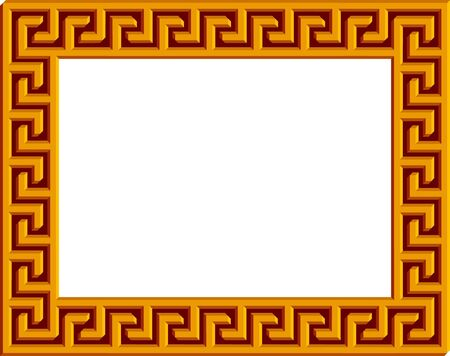 templo griego: Griego marco (elementos separados), con light'n'shade profundidad - ver muy diferente cuando se convirti�