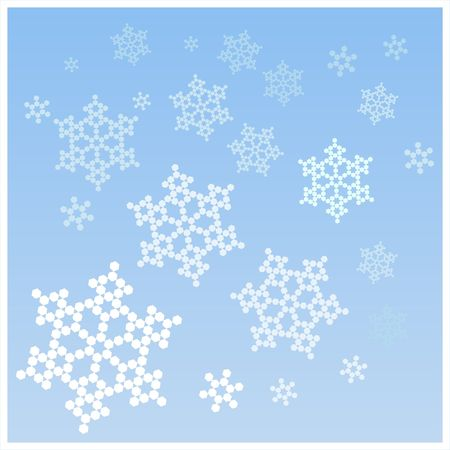 forecasts: Snowflakes for decoration, backgrounds, weather forecasts, etc.