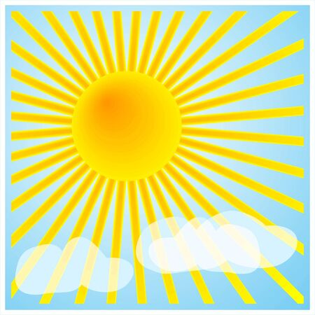 forecasts: Sunshine and light clouds for decoration, backgrounds, weather forecasts, etc. Stock Photo