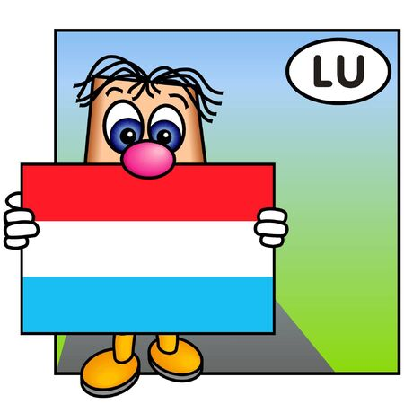 Paley Showing the Flag of Luxembourg photo