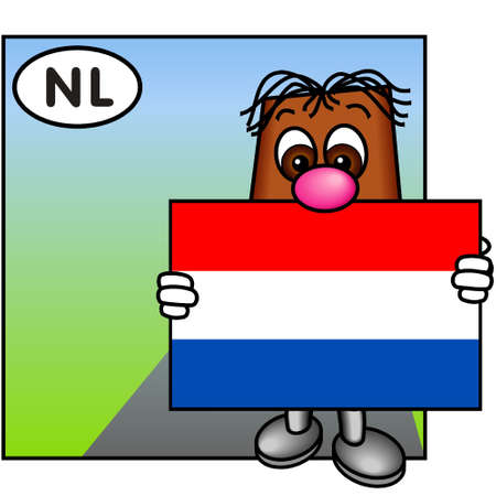 brownie: Brownie Showing the Flag of the Netherlands