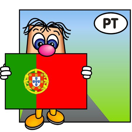 portuguese: Paley Showing the Portuguese Flag