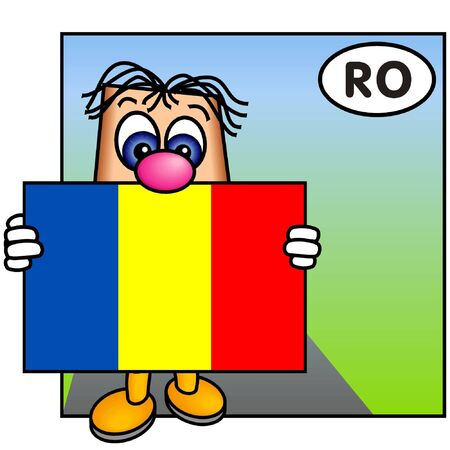 romanian: Paley Showing the Romanian Flag Stock Photo