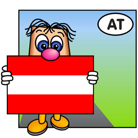 Paley Carrying the Flag of Austria