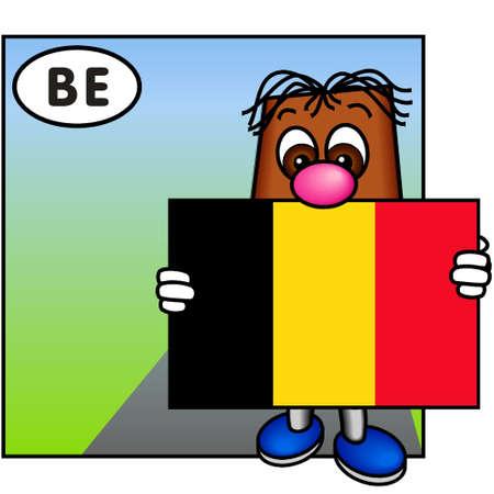 brownie: Brownie Showing the Belgian Flag (Belgium)