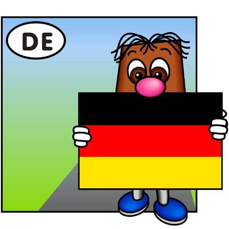 brownie: Brownie Showing the Flag of Germany