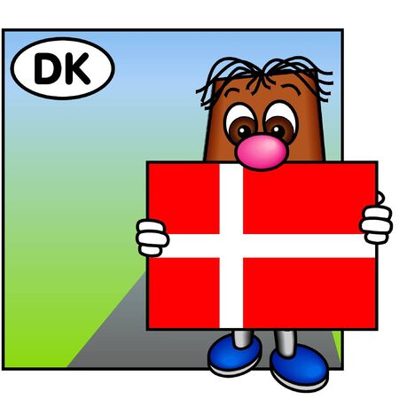 danish flag: Brownie Showing Dannebrog, the Danish Flag