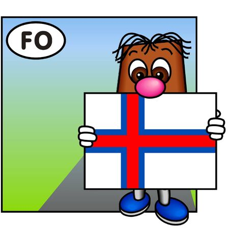 brownie: Brownie Showing the Flag of the Faroe Islands