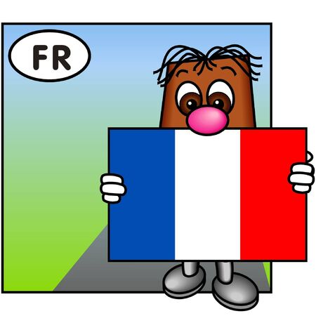 brownie: Brownie Carrying the French Flag, The Tricolore.