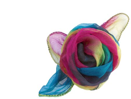 twining: Decorative Rose of Very Thin Handmade Silk Stock Photo