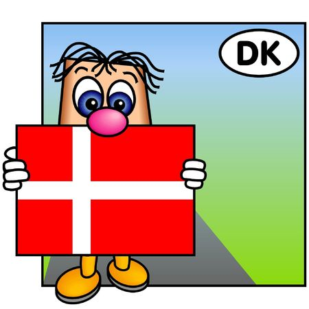 danish flag: Paley Proudly Presents the Danish Flag, Dannebrog Stock Photo