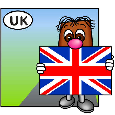 britannia: Brownie Showing the Flag of the United Kingdom, Union Jack