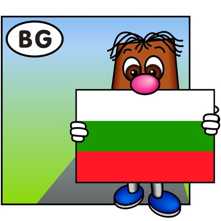 brownie: Brownie Showing the Bulgarian Flag