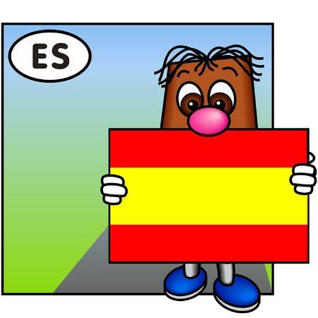 brownie: Brownie Showing the Flag of Spain