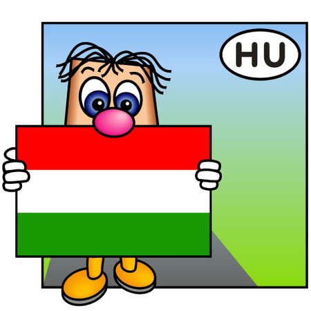 Paley Presenting the Hungarian Flag