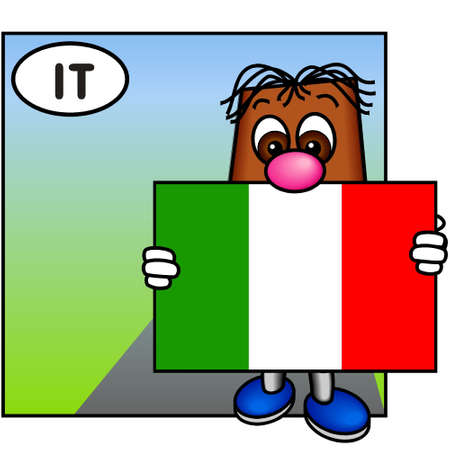 brownie: Brownie Showing the Italian Flag (Italy, Europe)