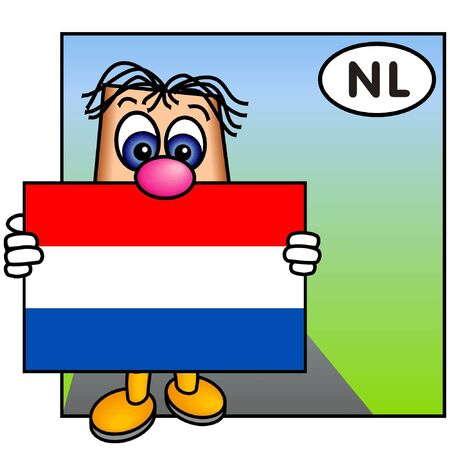 Paley Presenting the Dutch Flag (Netherlands)