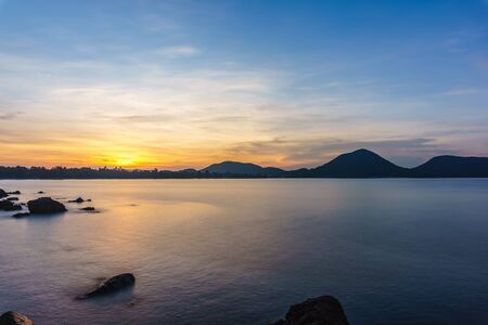 chonburi: Sunrise Seascape in Chonburi,Thailand