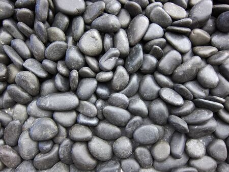 Black Stone raw material for construction or decoration  Stock Photo