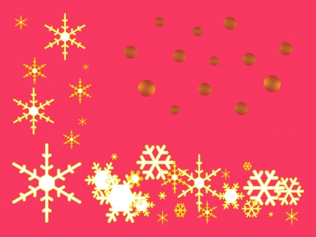 Golden Snow Flakes