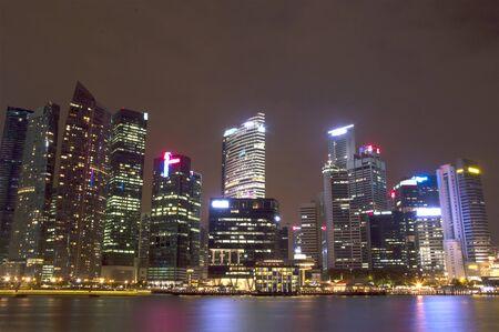 sky scraper: Singapore Sky Scraper Stock Photo