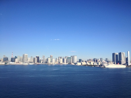 Tokyo City view from Rainbow Bridge