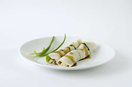 Chinese Style Fresh Spring Roll, can found easily in Thailand