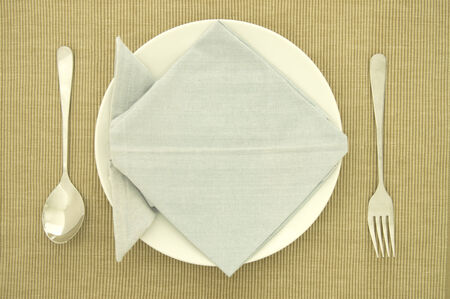Napkin Origami with Spoon and Folk