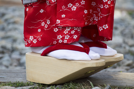 Geiko or well know as Geisha shoes. Stock Photo