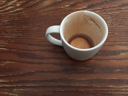 drank: An empty coffee cup after drank