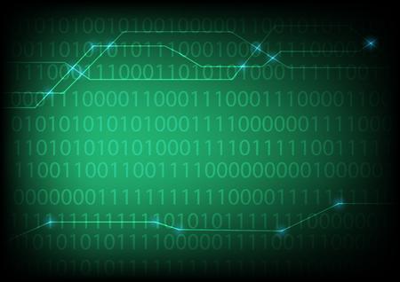 Dezimalzahl (eine Null) mit grün leuchtenden Hintergrund - am besten für Computer, Netzwerk, cyber, internet verwandte Standard-Bild - 66858294