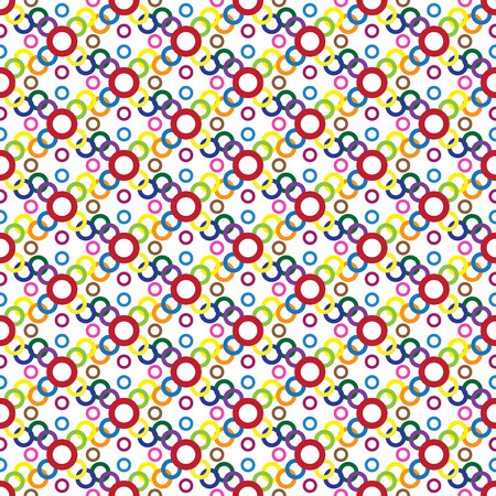 Colorful circle Pattern - abstract background Illustration