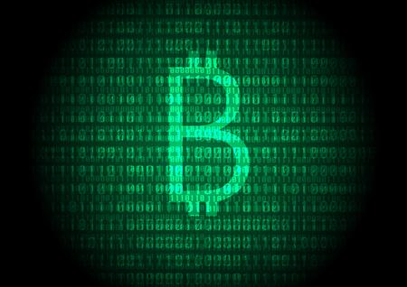 Bitcoin - digital currency Illustration