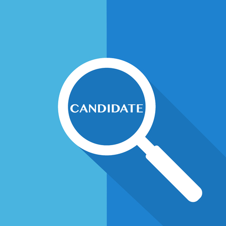 Search sign and wording Candidate with Long shadow design