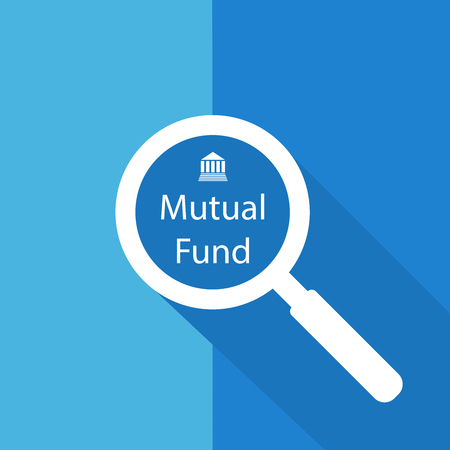 Search or Find Mutual fund  Symbol  Icon  Sign with long shadow Illustration