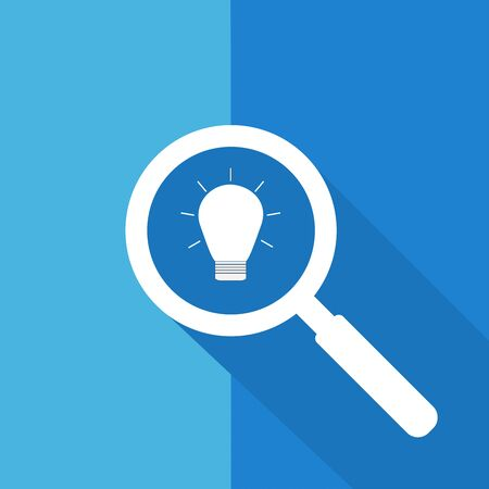 Search or Find idea  Symbol  Icon  Sign with long shadow