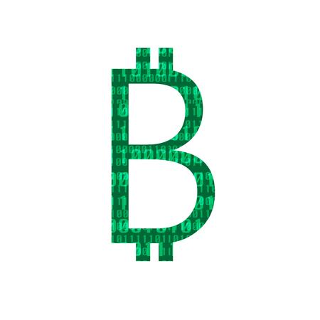 Bitcoin sign  symbol - digital currency