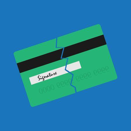 Credit card problem sign  symbol