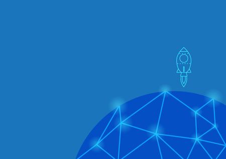 Startup rocket - Technology Background