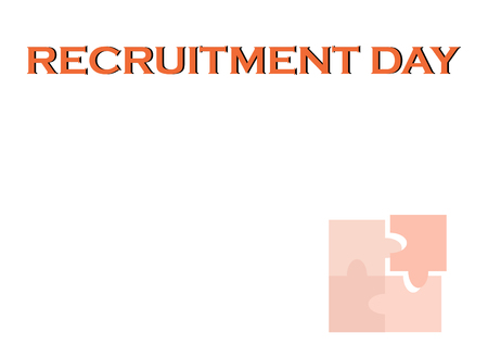 Recruitment Day background with free copy space for HR talent acquisition process