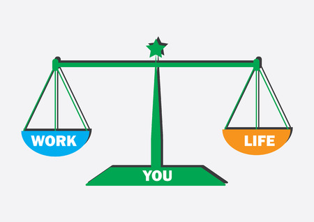 Work Life Balance concept Symbol/Sign Vectores