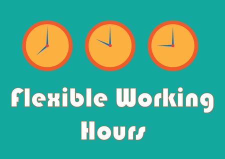 Signe/symbole des heures de travail flexibles - à utiliser pour le contenu de l'équilibre travail-vie personnelle et les ressources humaines